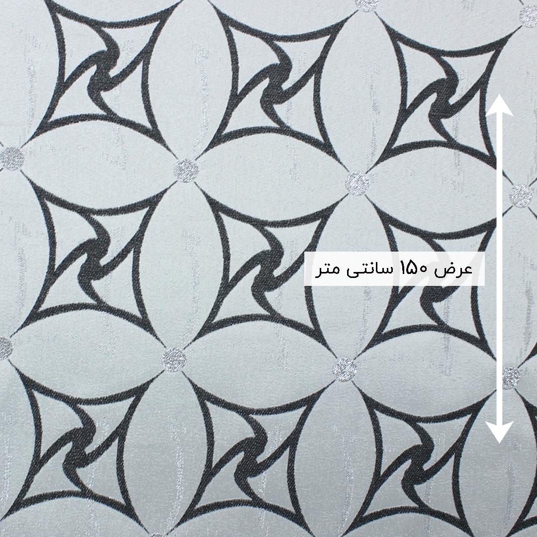 پارچه ژاکارد سیملی چیترا رنگ مشکی