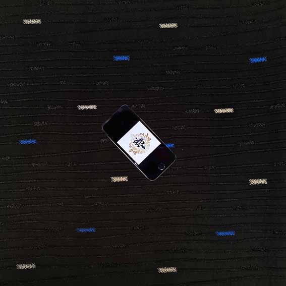 پارچه ژاکارد ویسکوز پریفام رنگ آبی
