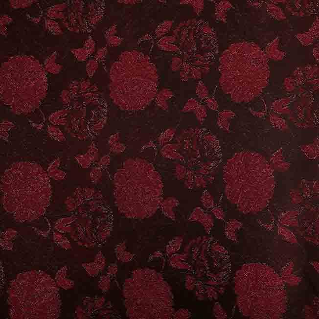 پارچه ژاکارد ویسکوز تاتیانا رنگ مشکی قرمز