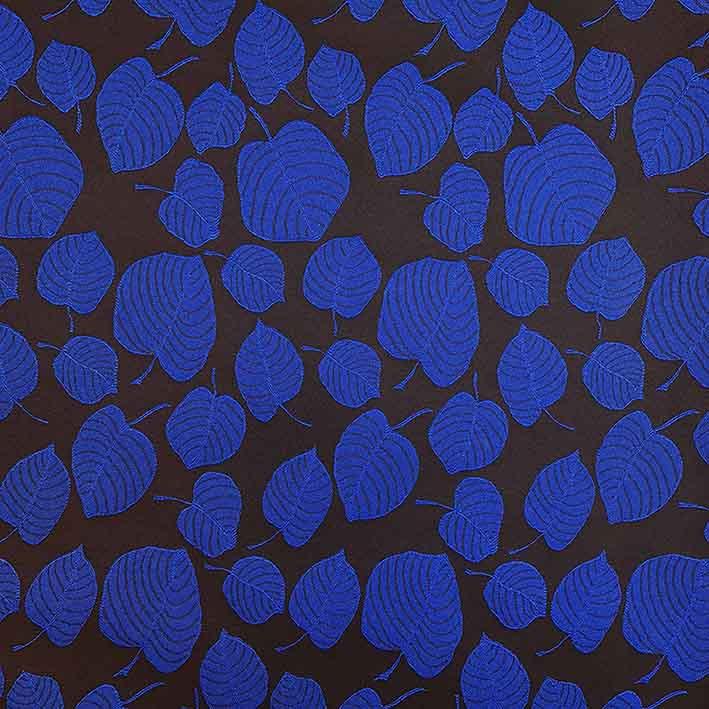 پارچه ژاکارد ویسکوز آلما رنگ کاربنی