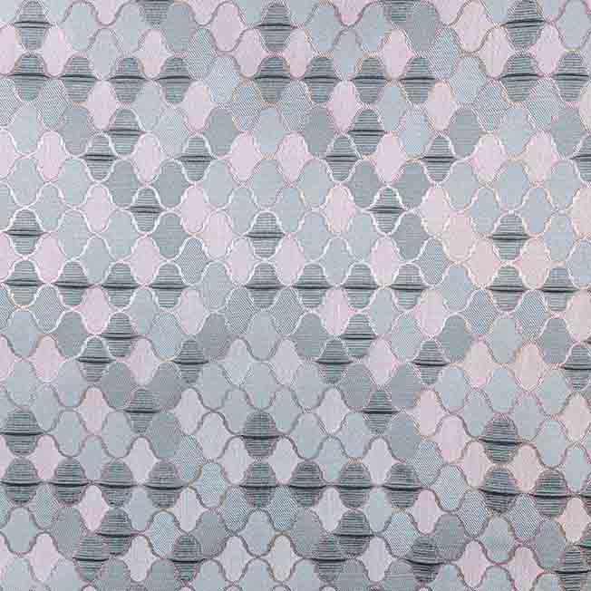 پارچه ژاکارد ویسکوز تندر رنگ طوسی آبی