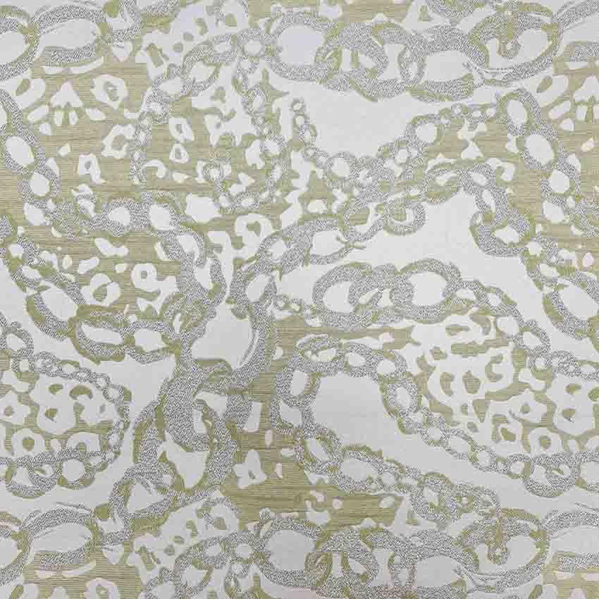 پارچه ژاکارد زنجیری سیملی رنگ فسفری