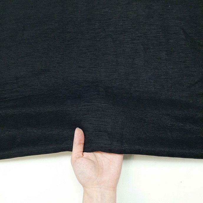 پارچه کتان کریستال رنگ 11 مشکی