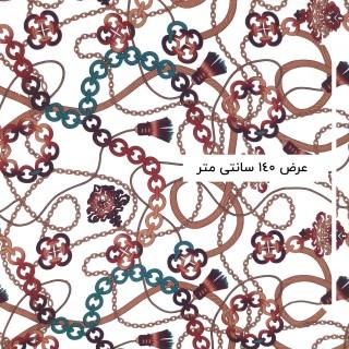 پارچه نخی طرحدار رنگ 123