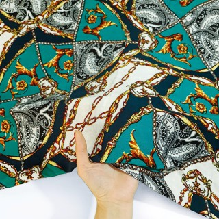 پارچه نخی طرحدار رنگ 55