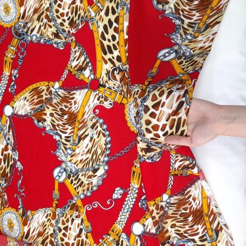 پارچه نخی طرحدار رنگ 21
