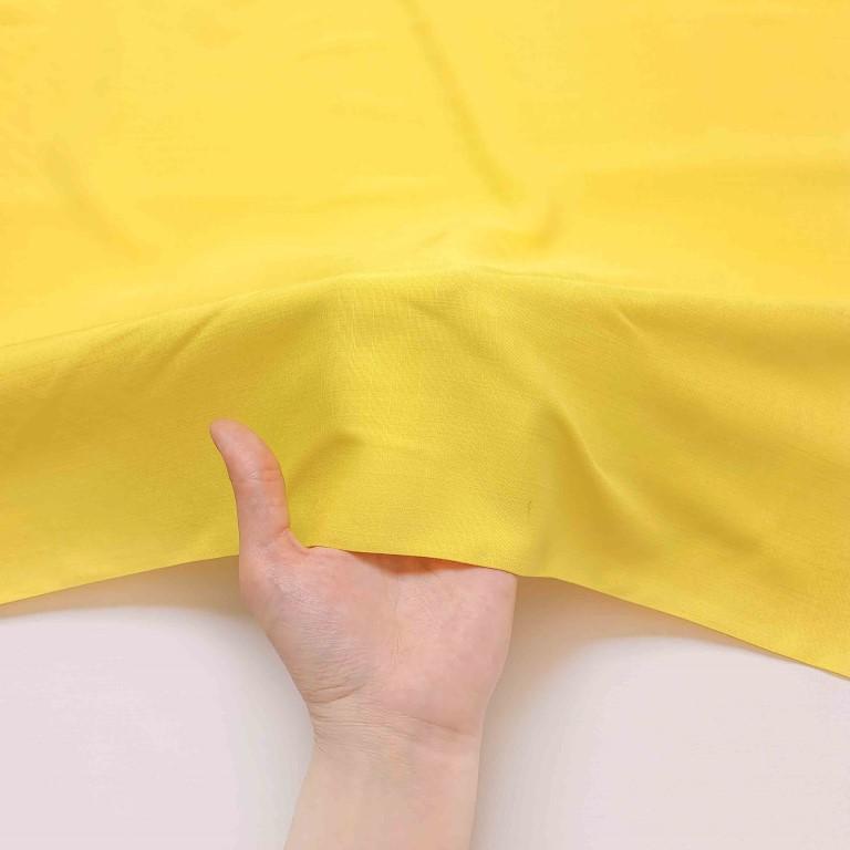 پارچه نخی ساده رنگ 3 زرد تخم مرغی