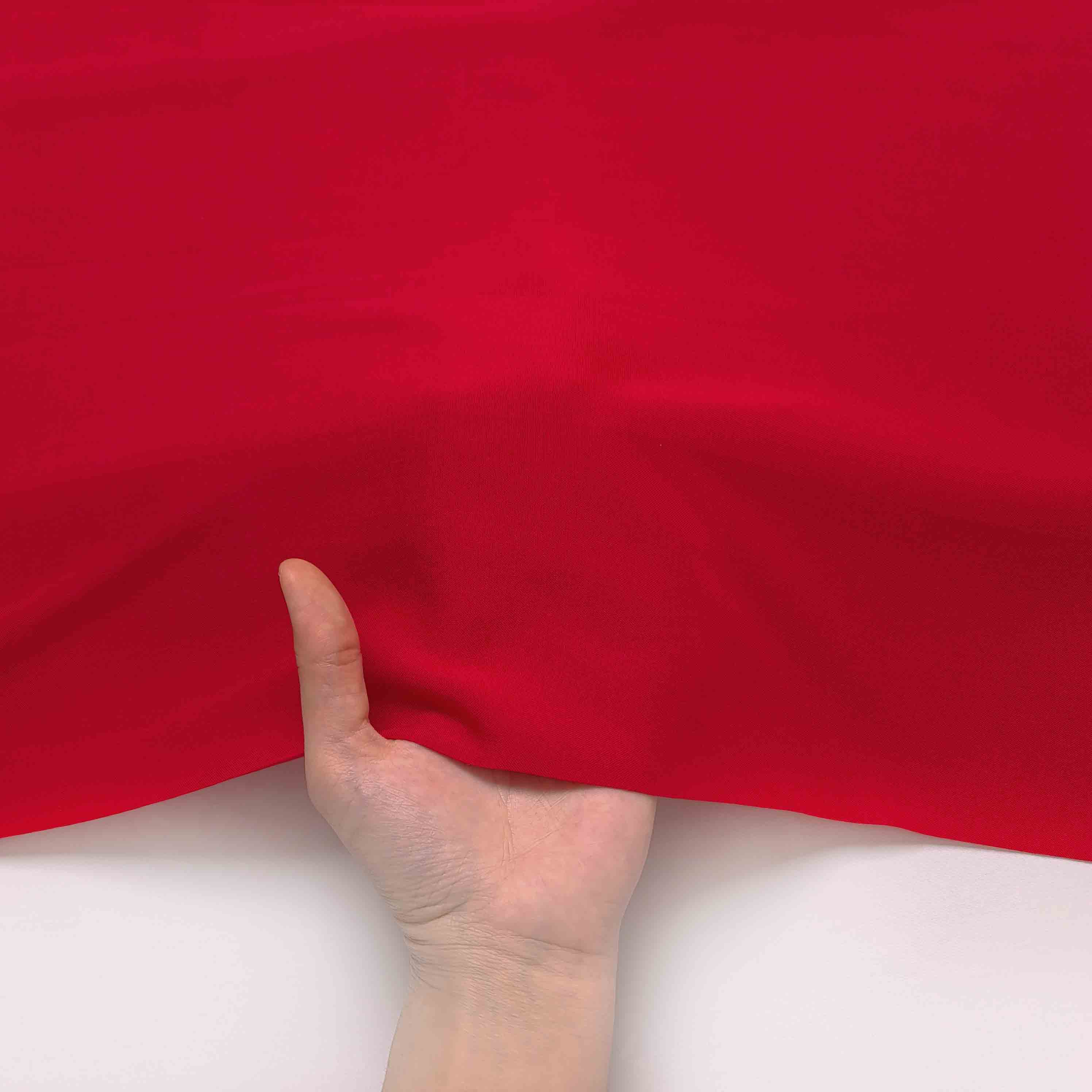 پارچه نخی ساده رنگ 7 قرمز گلی
