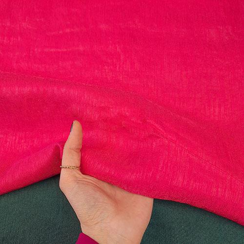 پارچه کتان کریستال رنگ 12 سرخابی
