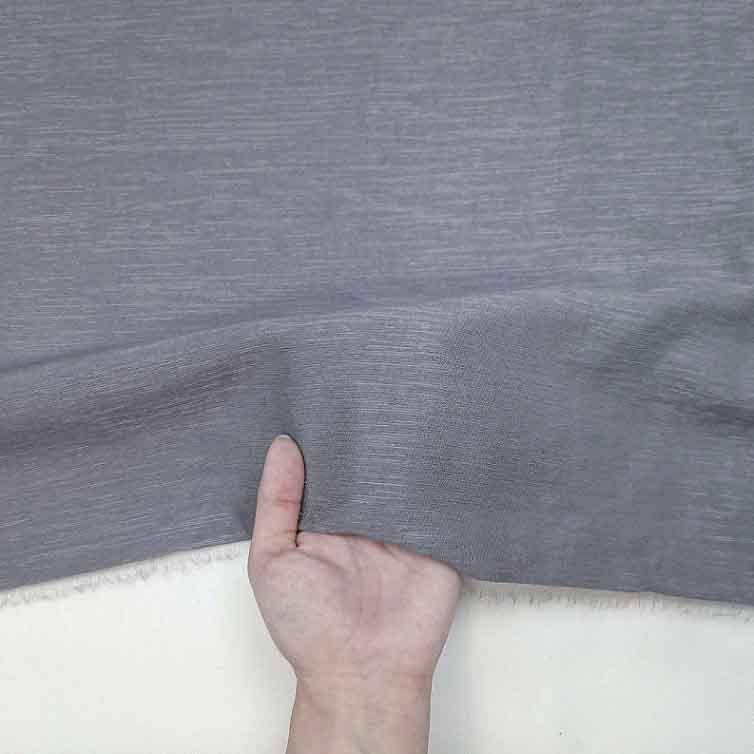 پارچه کتان کریستال رنگ 14 طوسی فیلی