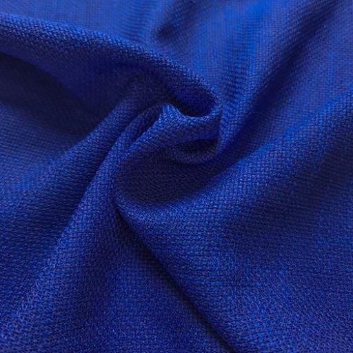 پارچه شانتون کنفی بافت رنگ آبی سیر