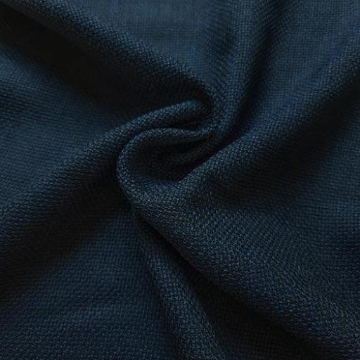 پارچه شانتون کنفی بافت رنگ طوسی آبی