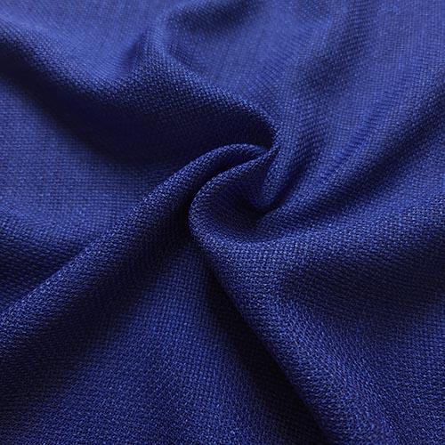 پارچه شانتون کنفی بافت رنگ آبی کبود
