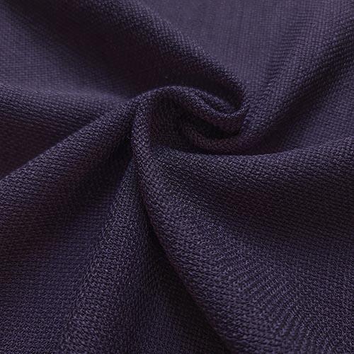 پارچه شانتون کنفی بافت رنگ آبی بنفش