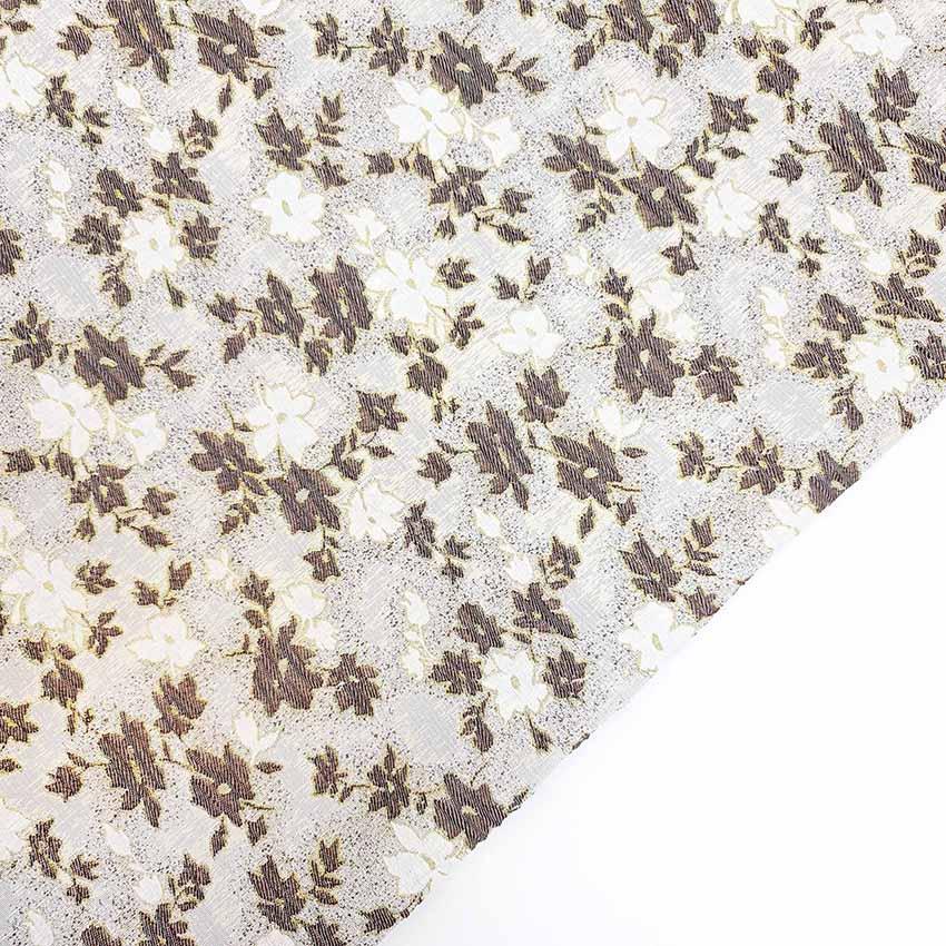 پارچه ژاکارد سیملی آبانسا رنگ شکلاتی