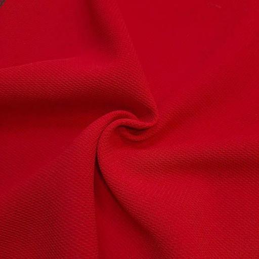 کرپ شانتون بیسکوییتی رنگ قرمز آتشین