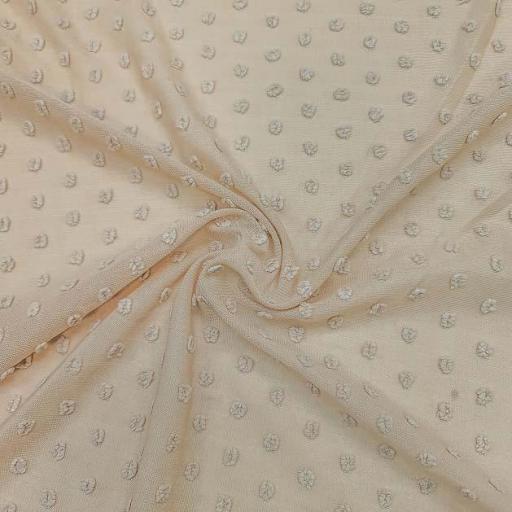 پارچه حریر خالدار رنگ 1 کرم عرض 180 سانتی متر