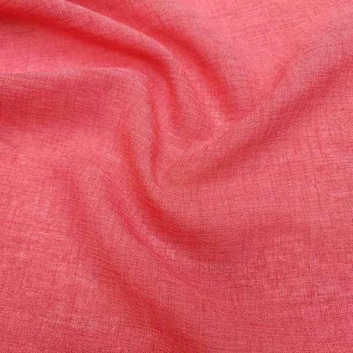 پارچه شانتون عبایی رنگ 3 مرجانی