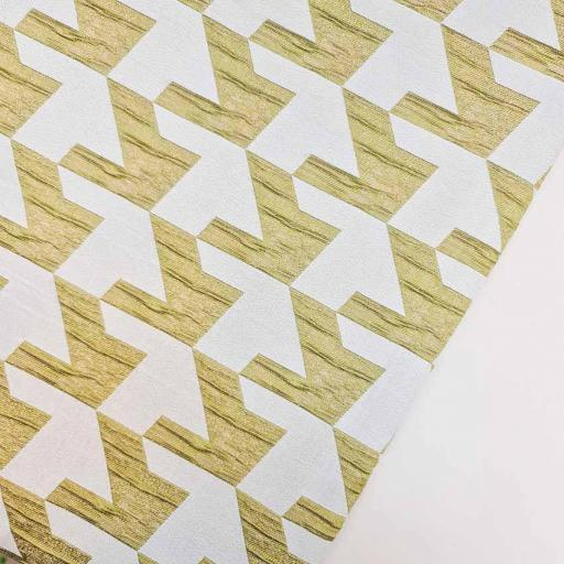 پارچه ژاکارد سیملی پیه دوپل رنگ زیتونی