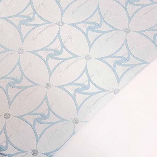 پارچه ژاکارد سیملی چیترا رنگ آبی آسمانی