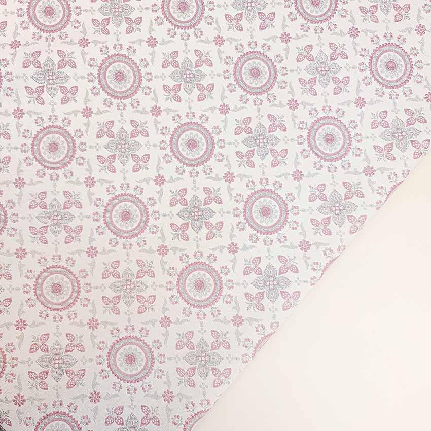 ژاکارد سیملی هندسی رنگ یاسی