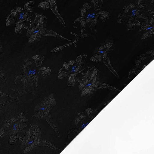 پارچه ژاکارد ویسکوز برسومه رنگ آبی