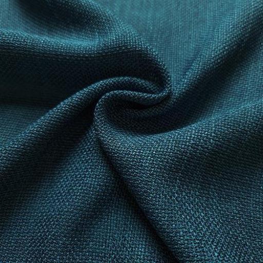 پارچه شانتون کنفی بافت رنگ سبز آبی کبود