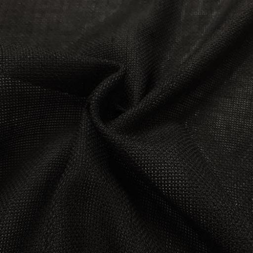 پارچه شانتون کنفی بافت رنگ مشکی