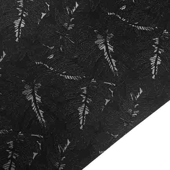 پارچه ژاکارد تافته برگ انجیری 2 رنگ مشکی
