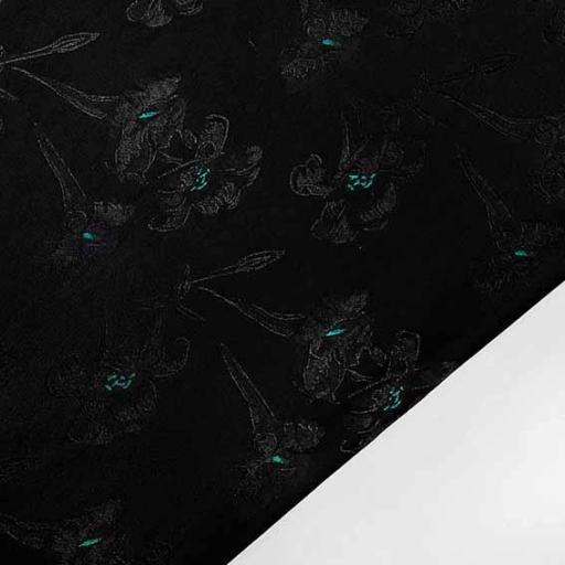 پارچه ژاکارد ویسکوز برسومه رنگ سبز