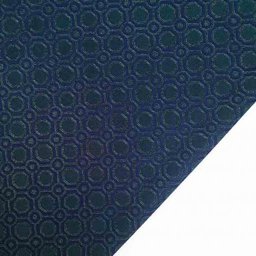 پارچه ژاکارد ویسکوز تاتین رنگ سبز سرمه ای