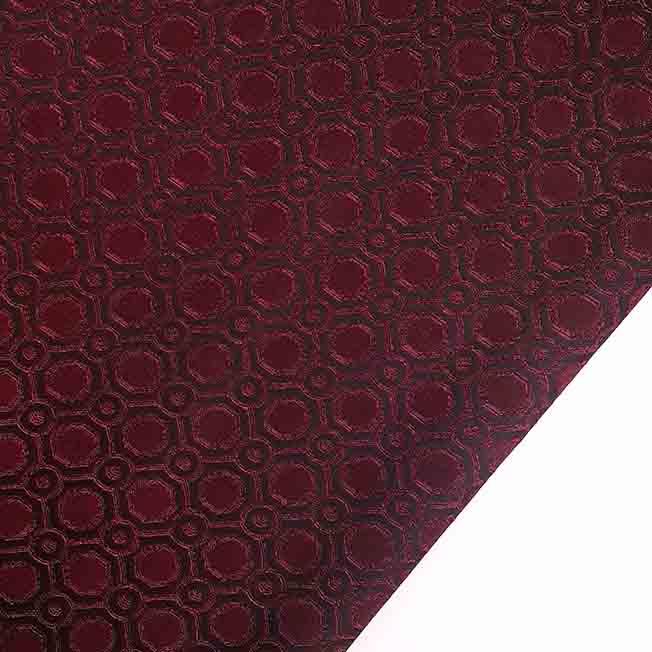 پارچه ژاکارد ویسکوز تاتین رنگ مشکی قرمز