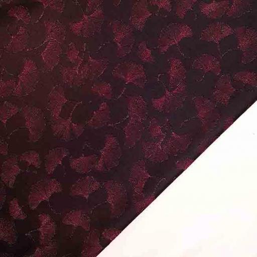 پارچه ژاکارد ویسکوز تانسو رنگ مشکی آلبالویی