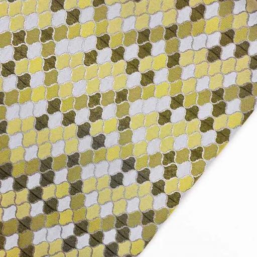 پارچه ژاکارد ویسکوز تندر رنگ سبز کهربایی