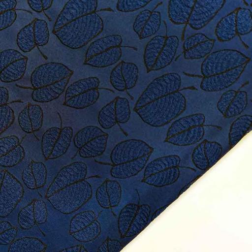 پارچه ژاکارد ویسکوز آلما رنگ سرمه ای