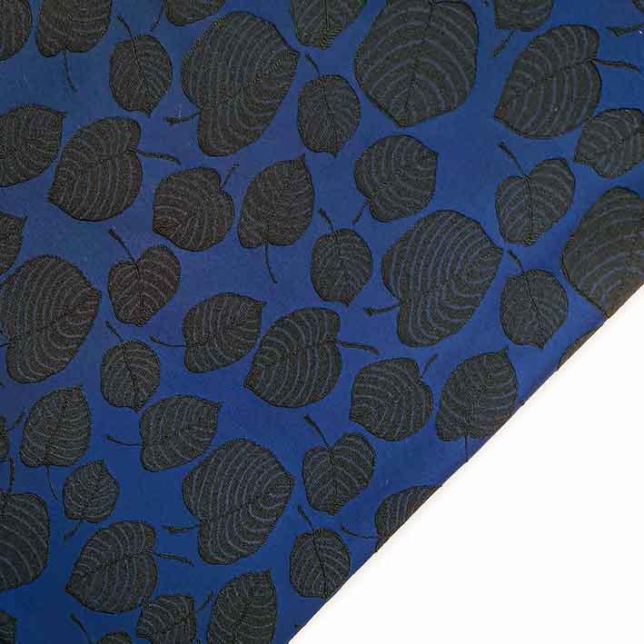 پارچه ژاکارد ویسکوز آلما رنگ مشکی سرمه ای