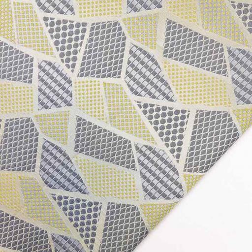 پارچه ژاکارد ویسکوز آندیا رنگ لیمویی طوسی