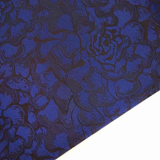 پارچه ژاکارد تافته آهو رنگ آبی کلاسیک