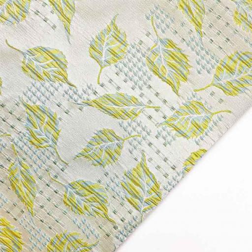 پارچه ژاکارد ویسکوز پالیز رنگ فسفری آدامسی
