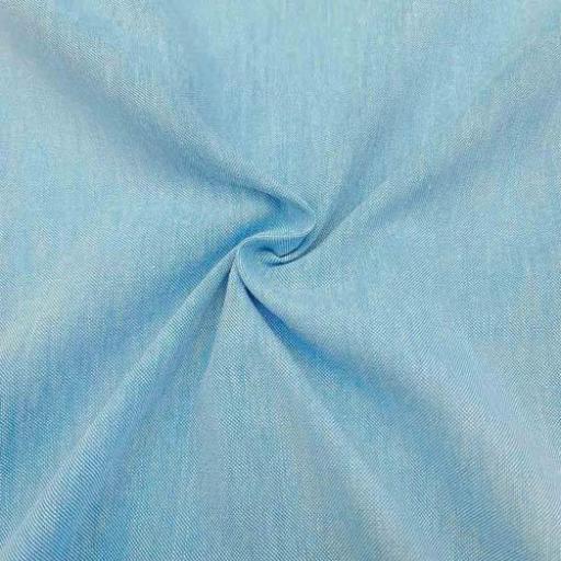 پارچه لینن نخ رنگ 1190 آبی دریایی