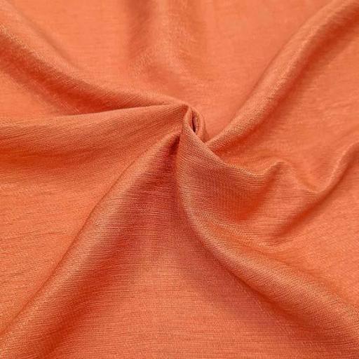 پارچه کتان کریستال رنگ 3 پرتقالی