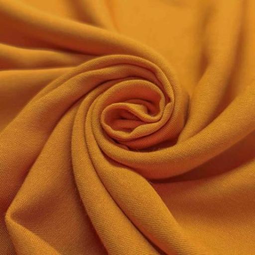 پارچه نخی ساده رنگ 52 زرد چوبه ای