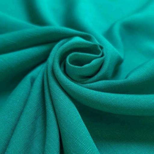 پارچه نخی ساده رنگ 1 سبز آبی