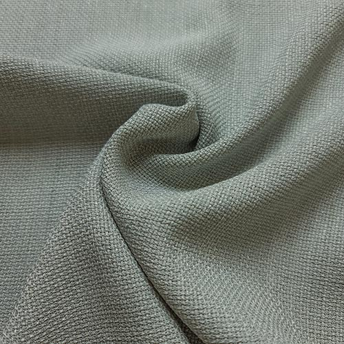 پارچه شانتون کنفی بافت رنگ طوسی سبز
