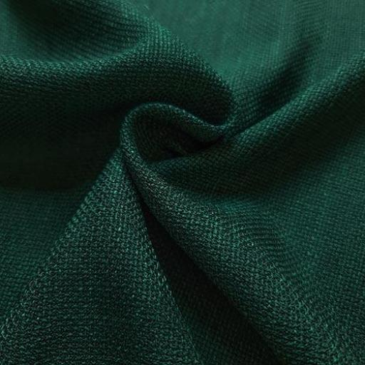 پارچه شانتون کنفی بافت رنگ یشمی